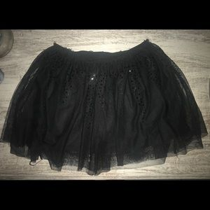 Justice Girls black skirt with tulle size 12